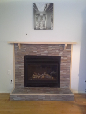 Refinished Fire Place