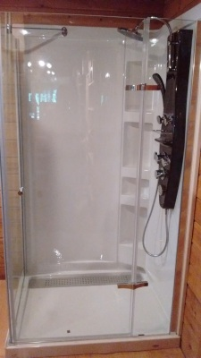 Installed Acrylic Shower