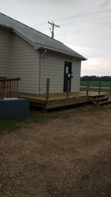 Deck Installed for Graminia Hall
