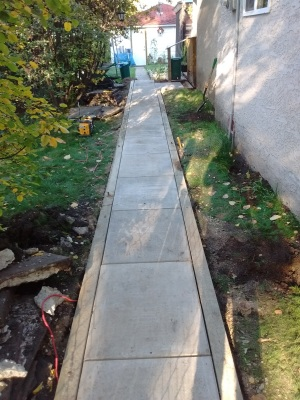 Patio Walkway Installed