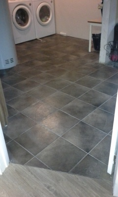 Tiled Laundry floor